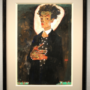 Self-Portrait with Peacock Waistcoat, 1911