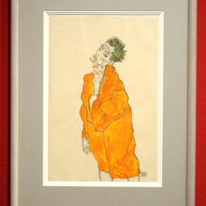 Self-portrait in Orange Cloak, 1913