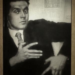 Anton Josef Trčka - Egon Schiele posing, 1914