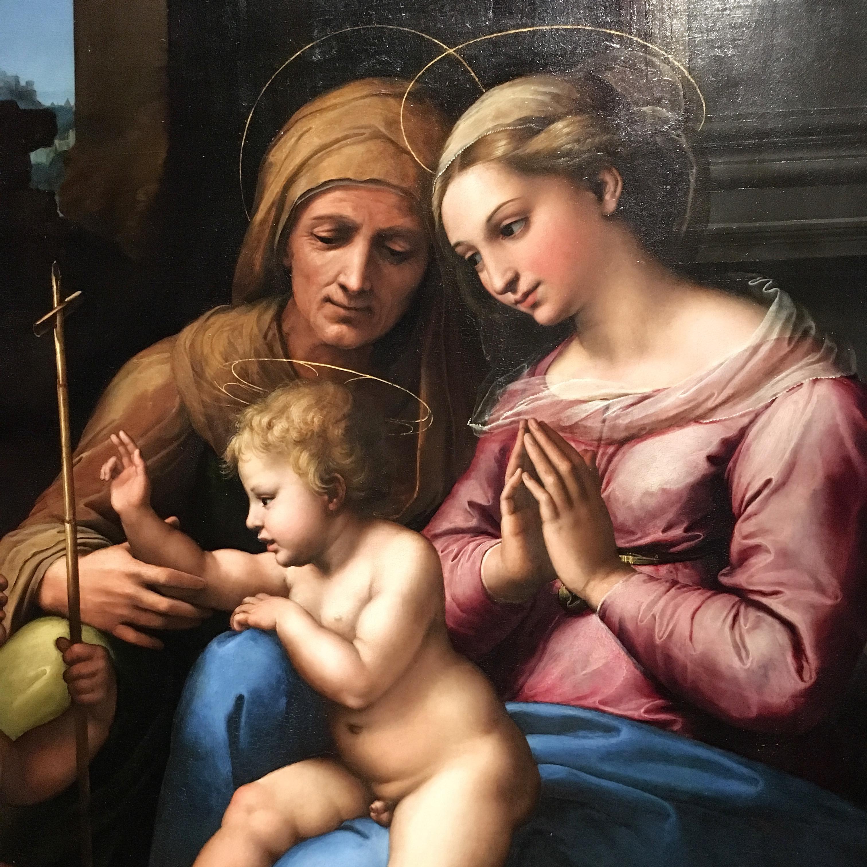Details of the Madonna delDivino Amore