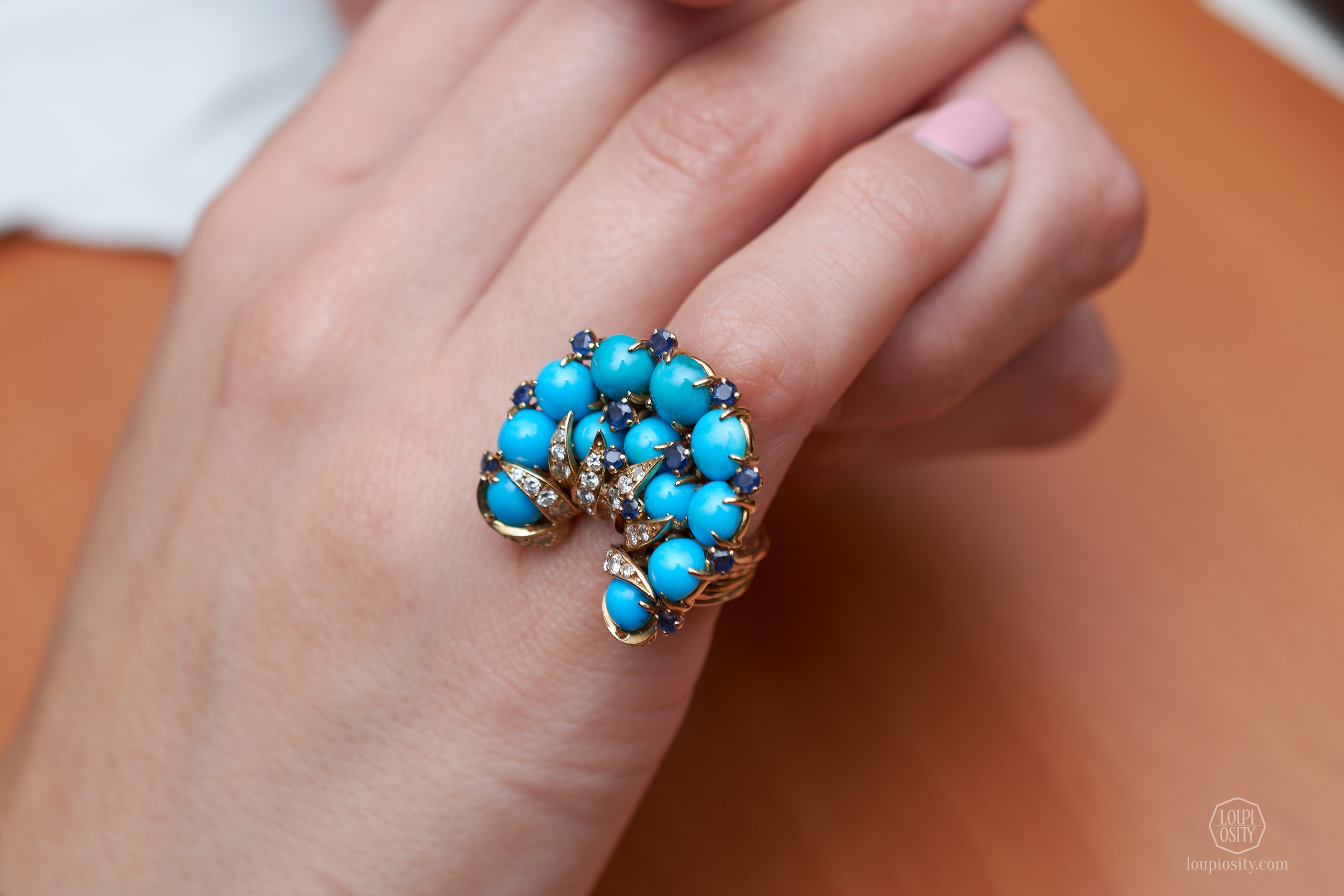 Lot 752 Turquoise ring by Sterlé
