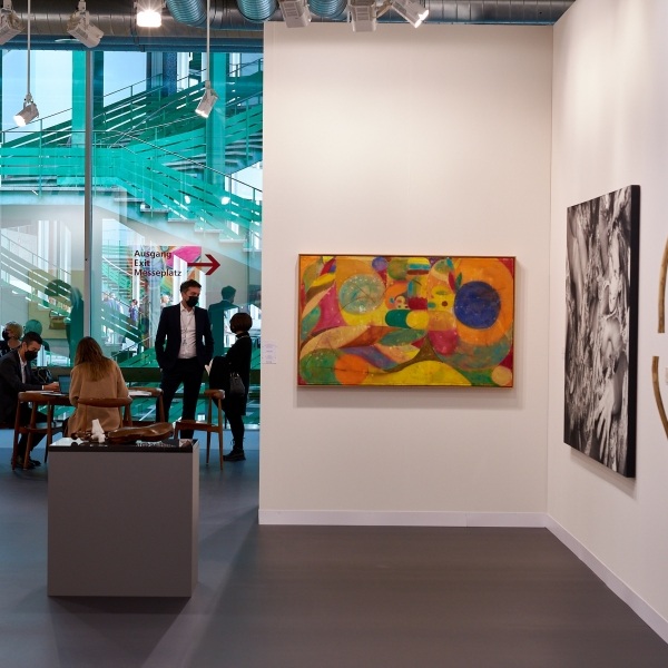 View of the Galleries  section at Art Basel 2021