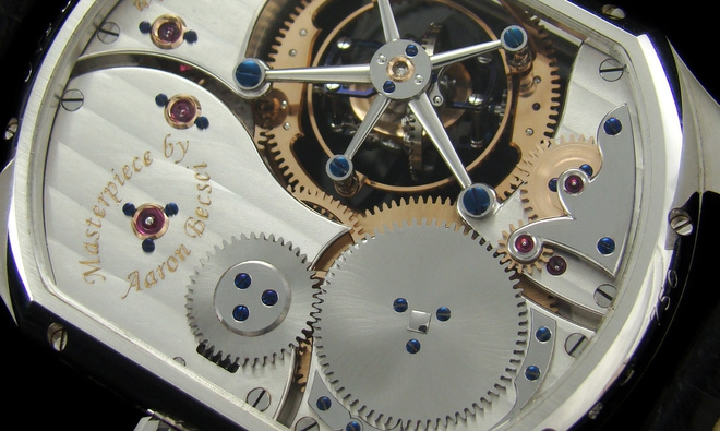 Mechanical wristwatch back