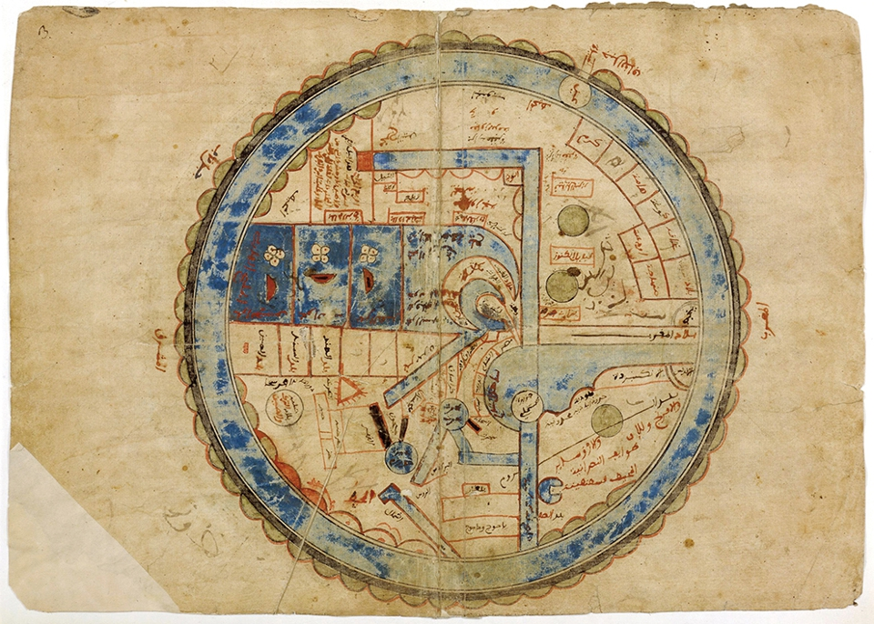 The Pearl of Wonders Map by Ibn al-Wardi