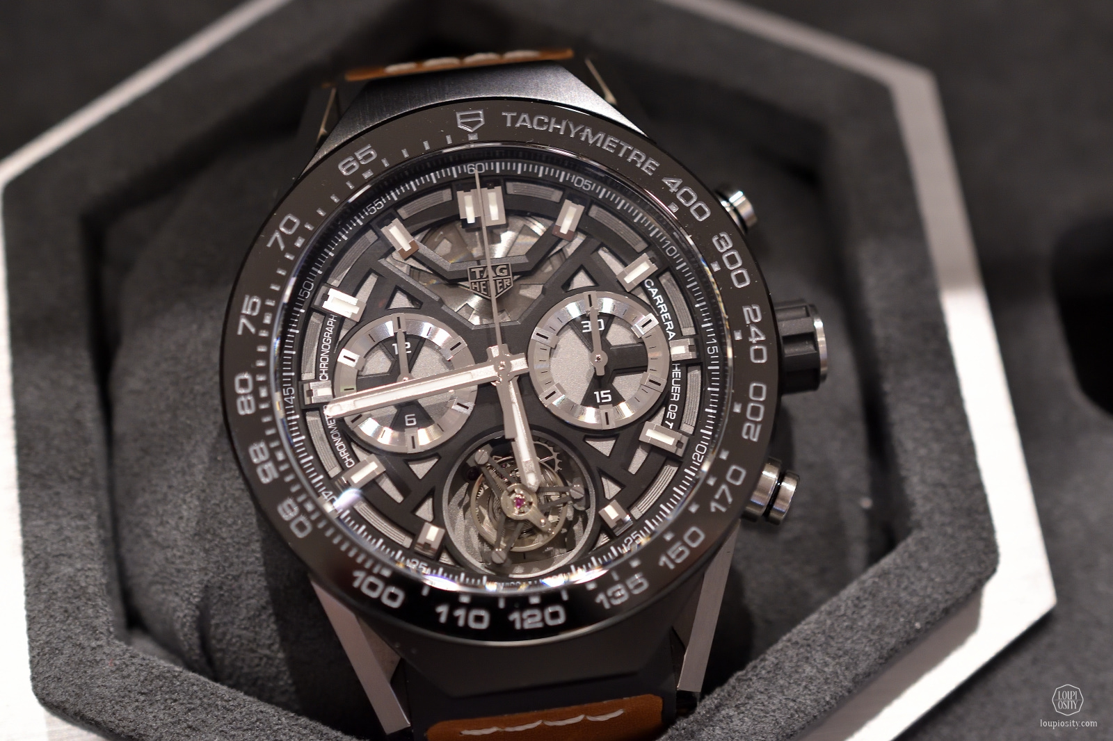 New TAG Heuer Connected Modular 45 with the manufacture chronograph Tourbillon Heuer 02-T module