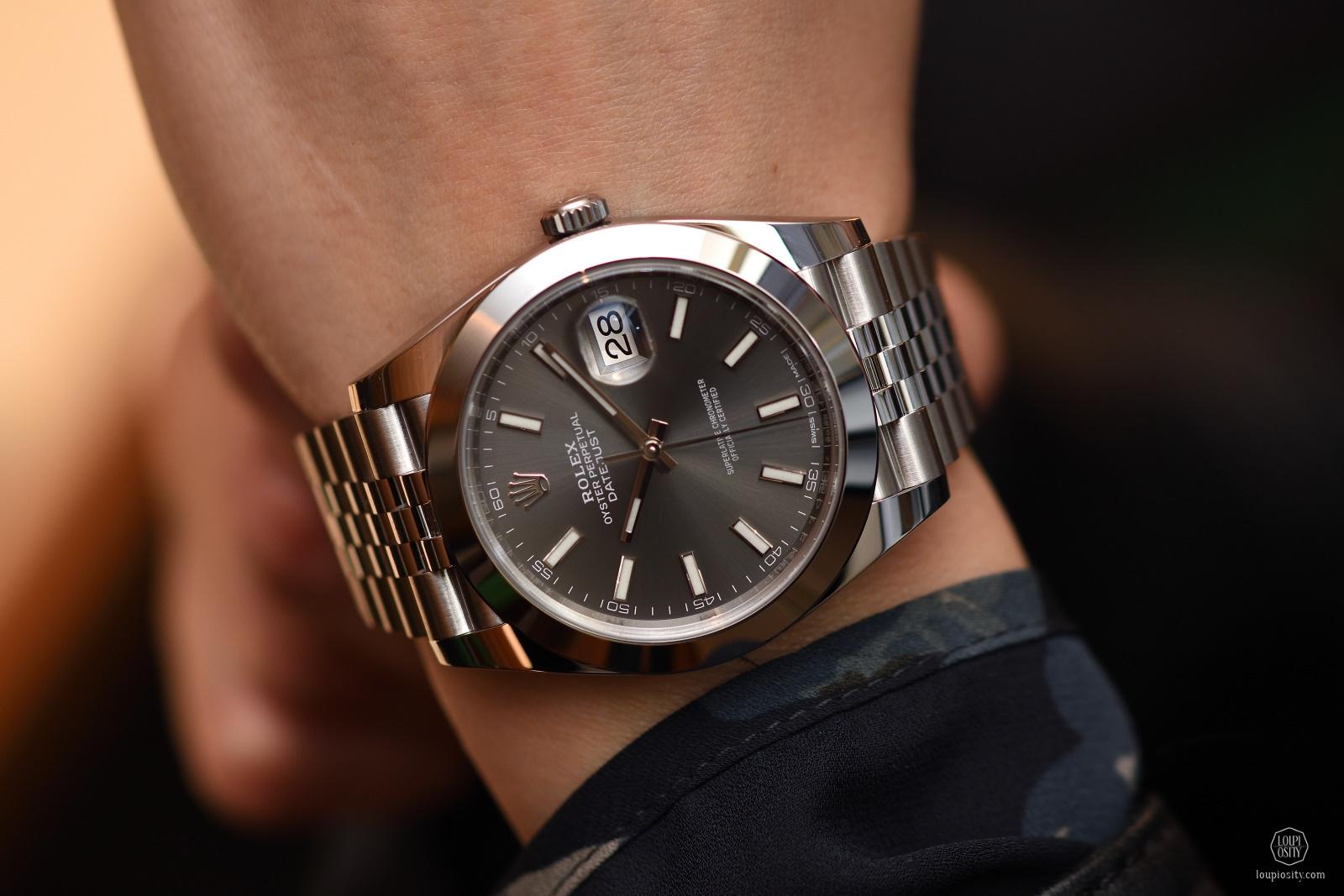 Rolex Datejust, 41mm, steel, dark-rhodium dial
