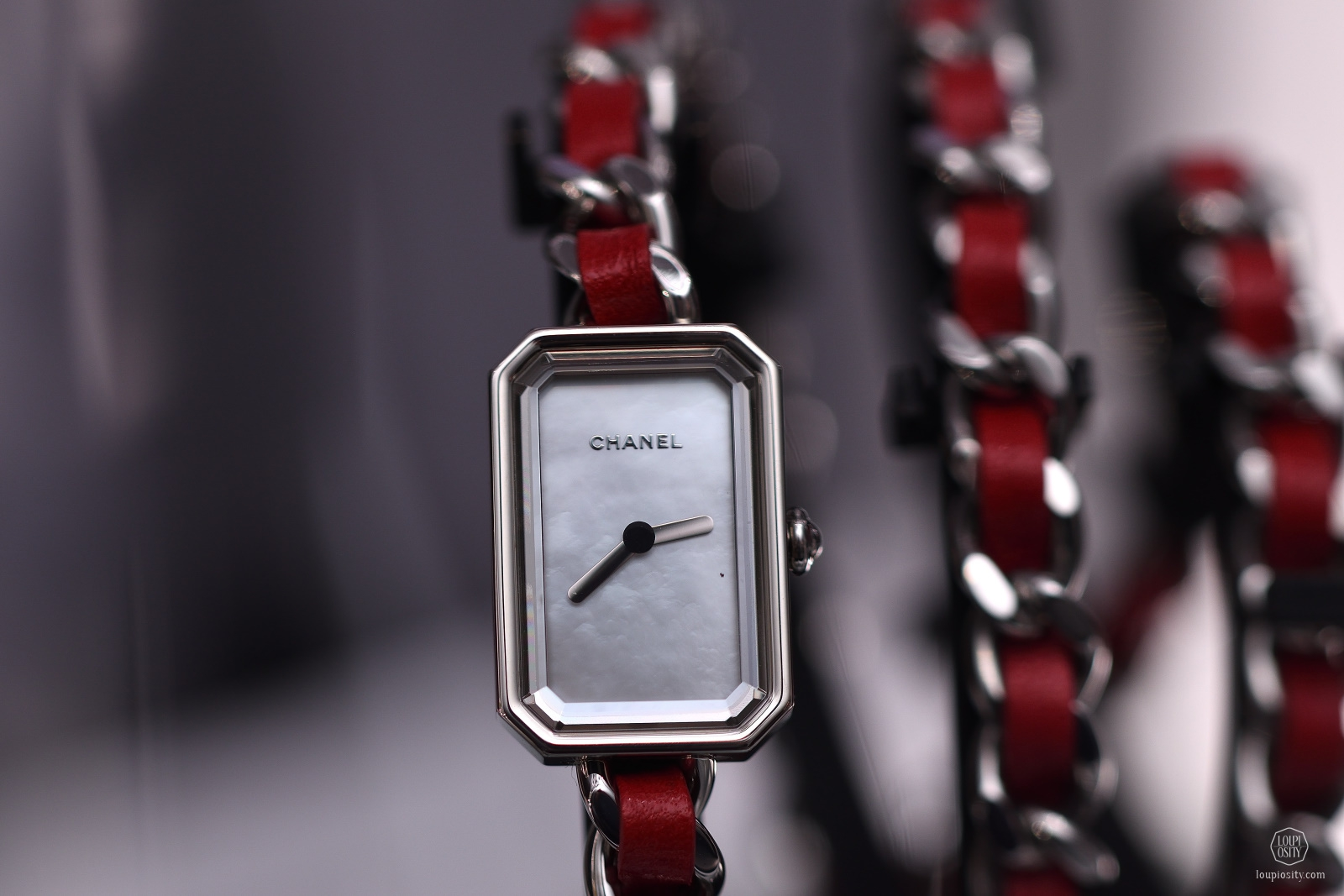 Chanel Première Rock with red leather