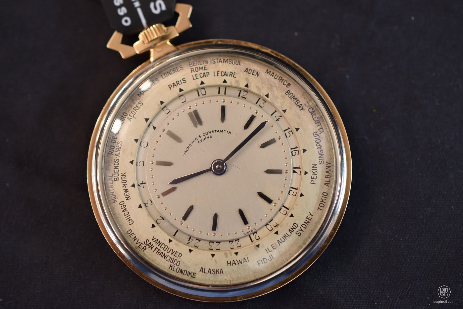 world time pocket watch