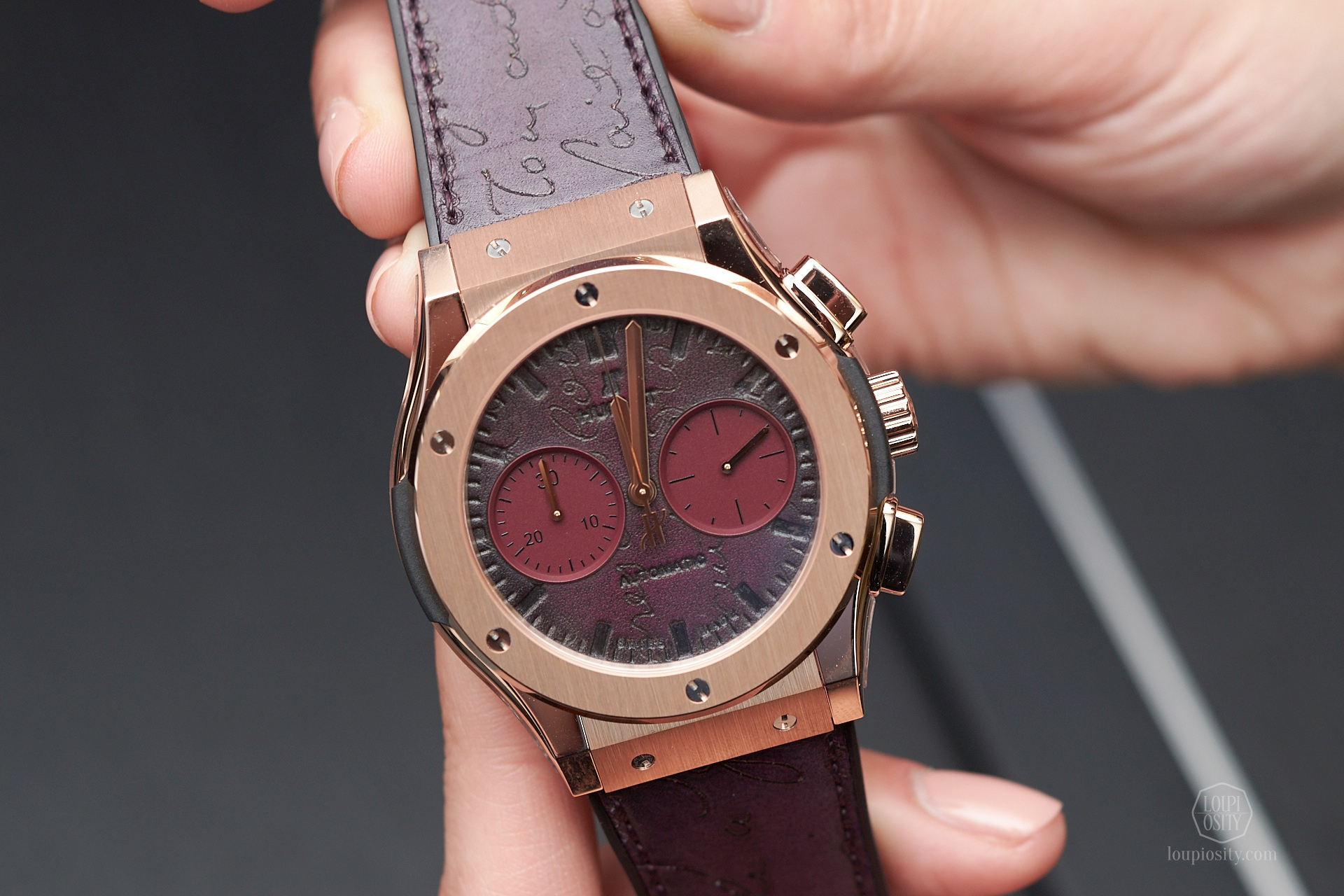 Classic Fusion Chronograph Berluti Scritto