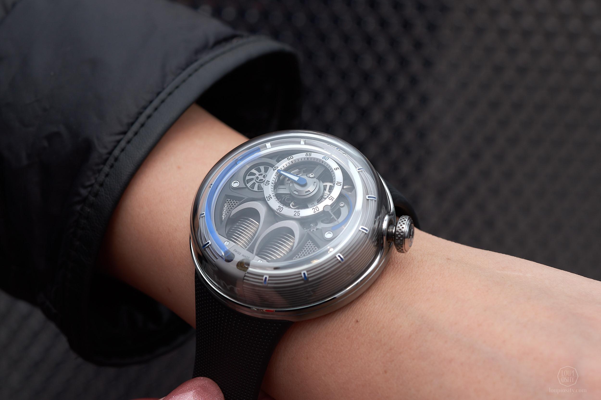 HYT 1.0 blue - on the wrist