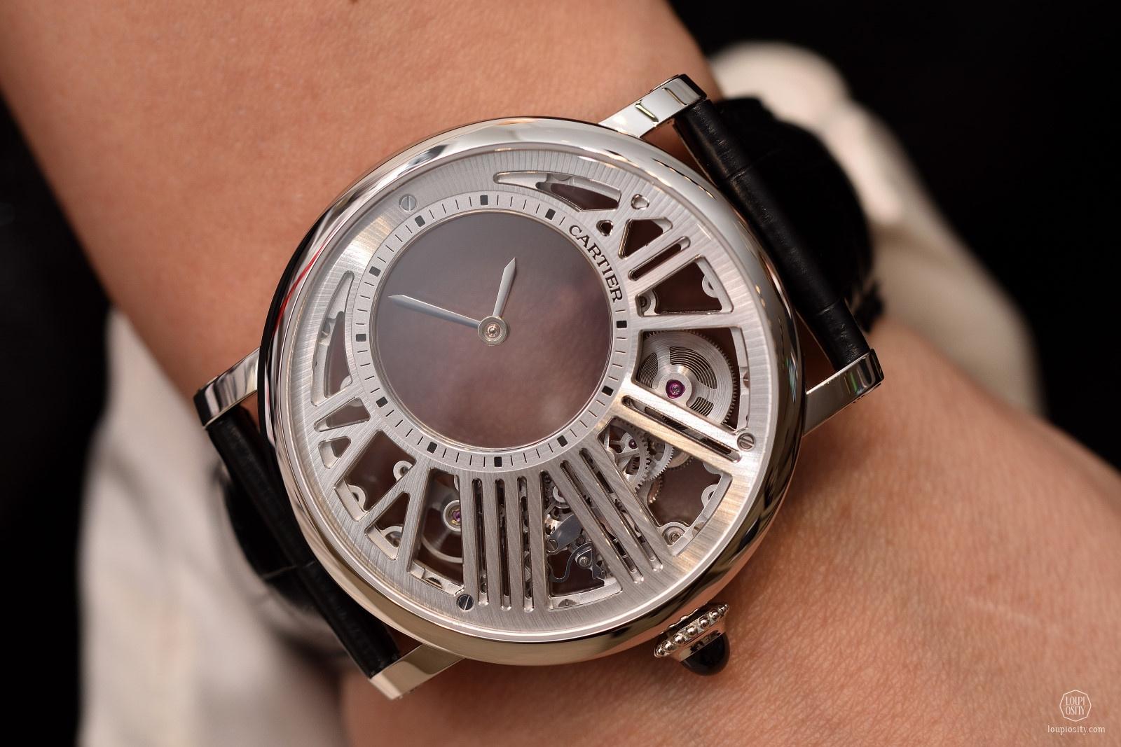 Rotonde De Cartier Skeleton Mysterious Hour