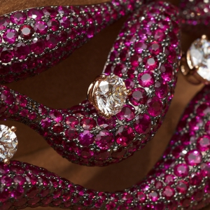 High Jewellery ruby diamond necklace