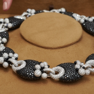 High Jewellery black and white diamond necklace