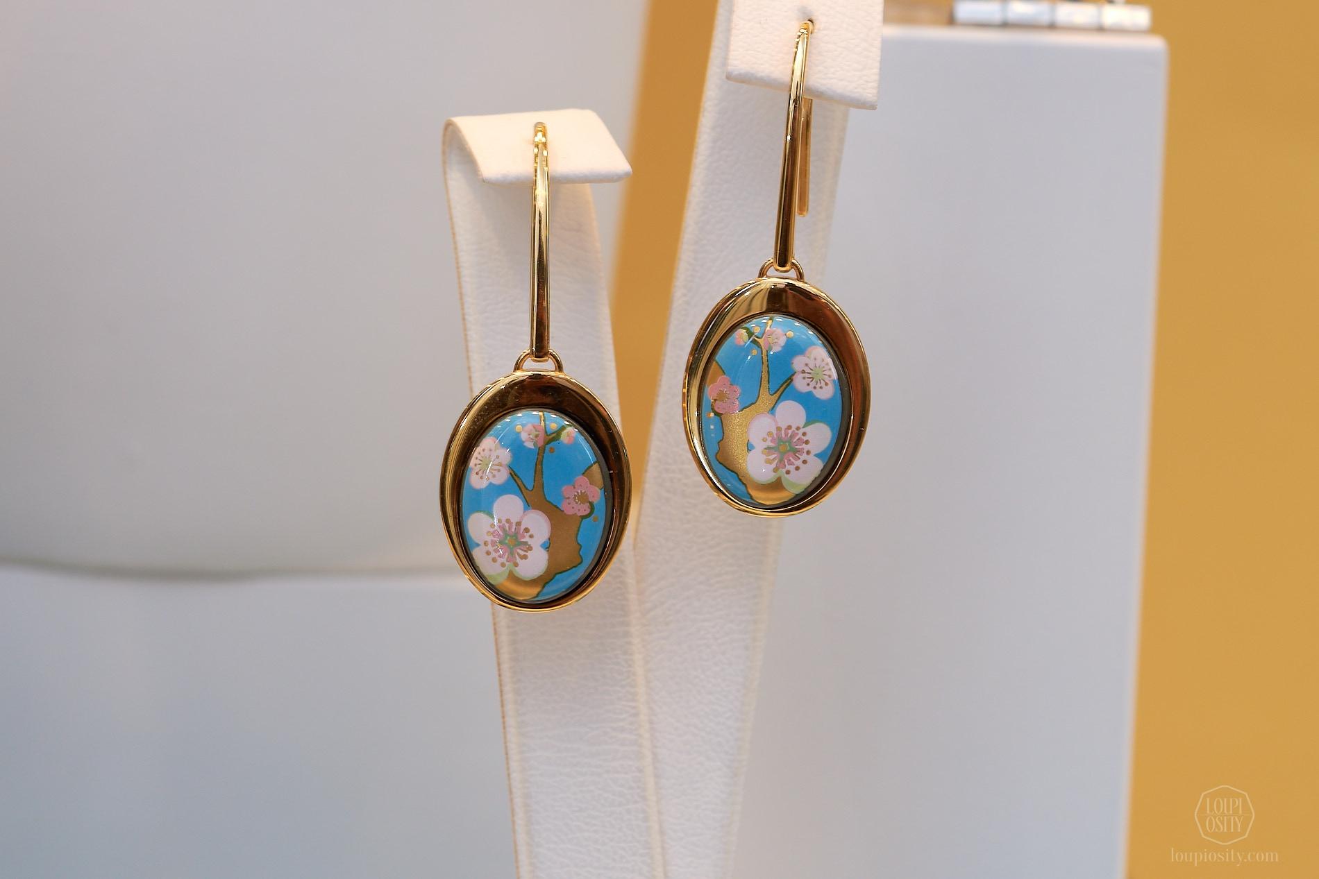 L'Amandier turquoise éclat earrings