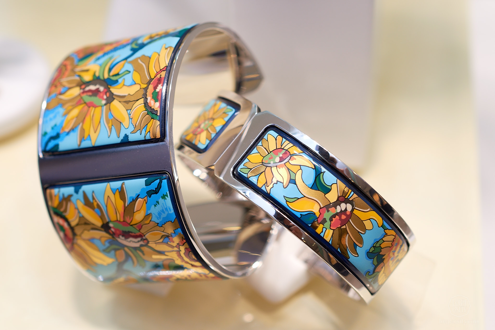 Sunflowers manchette and bangle