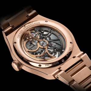 Laureato Skeleton pink gold with calibre GP01800-0006