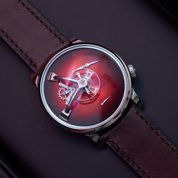 LM101 MB&F × H. Moser red fumé dial