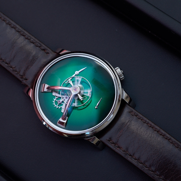 LM101 MB&F × H. Moser green fumé dial
