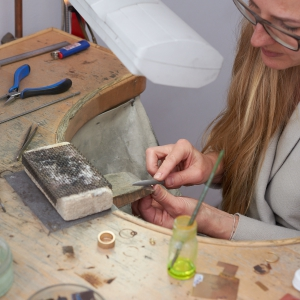 Michaela Arl de Lima in her atelier