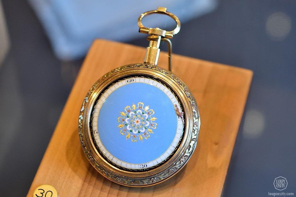 Pocket watch with light blue enamel