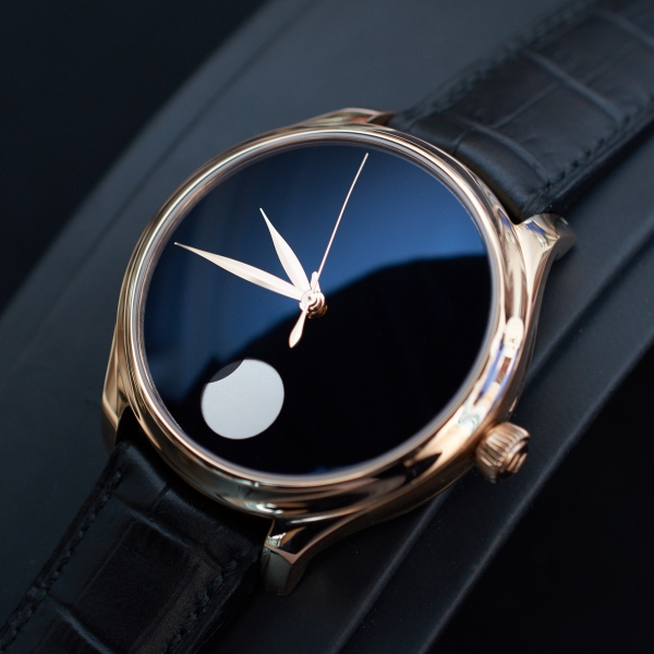 H. Moser & Cie Endeavour Perpetual Moon Concept Only Watch, Vantablack dial