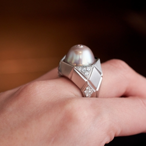 Facettes Perle ring