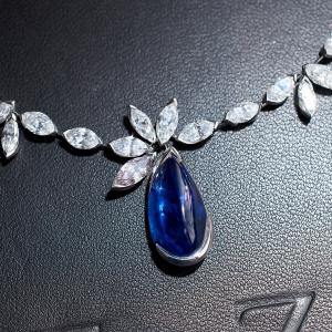 Drop diamond necklace