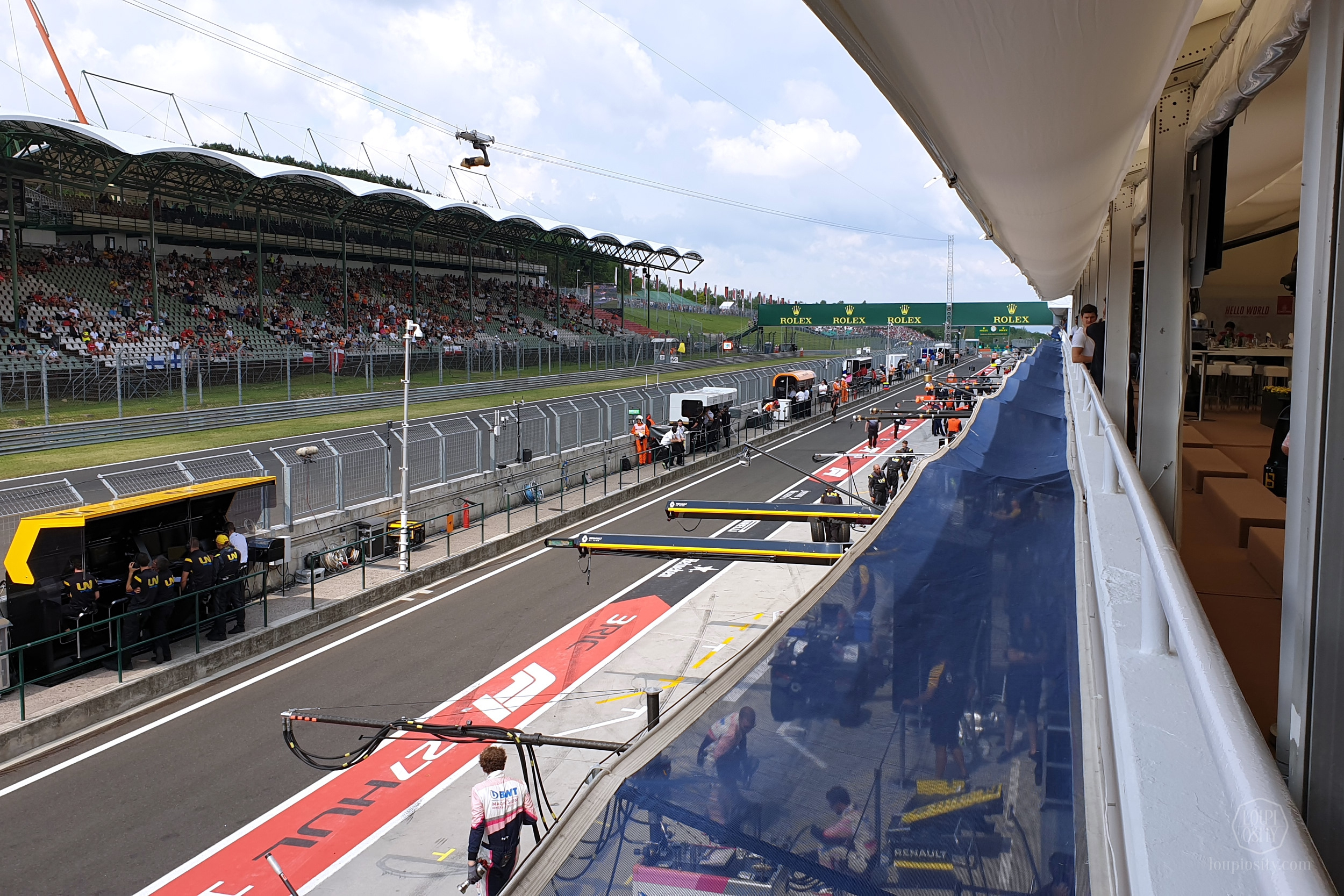 View from the F1 Paddock Club