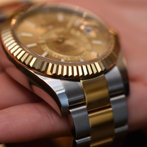 Rolex Oyster Perpetual Sky-Dweller with two-toned gold-steel Rolesor bracelet