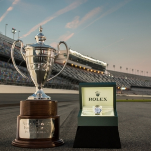 SPECIALLY ENGRAVED ROLEX COSMOGRAPH DAYTONA AND 2014 CHAMPION\'S TROPHY
