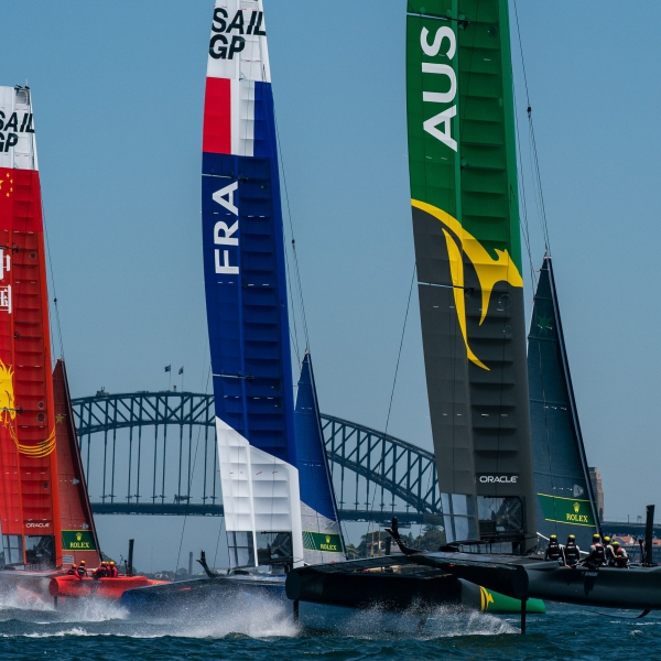The China, France and Australia SailGP Teams