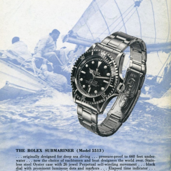 Historic Rolex Submariner advertisement from the 1960s, Photo by Rolex