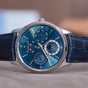 Jaeger-LeCoultre Master Ultra Thin Perpetual Enamel blue guilloché enamel dial