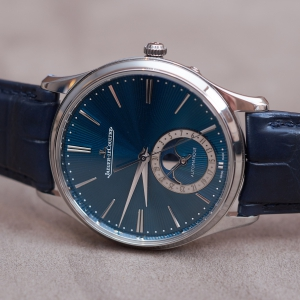 Jaeger-LeCoultre Master Ultra Thin Moon Enamel with blue guilloché enamel dial