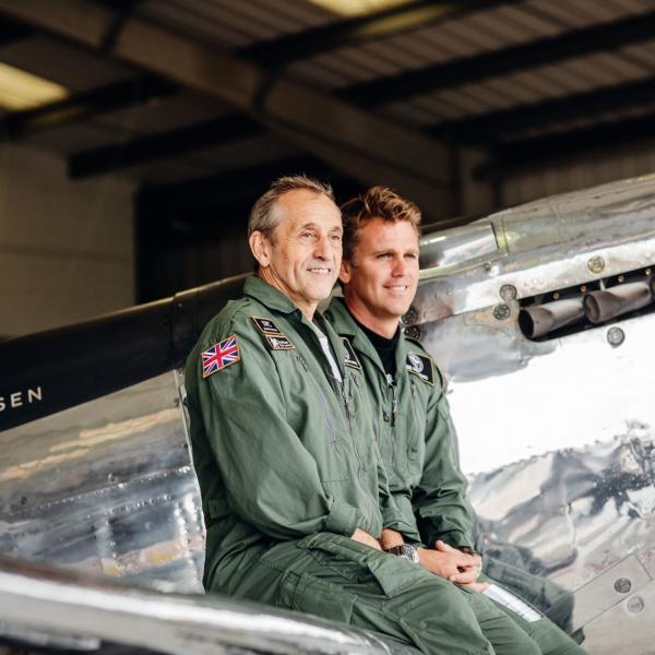 Pilots Steve Boultbee Brooks and Matt Jones
