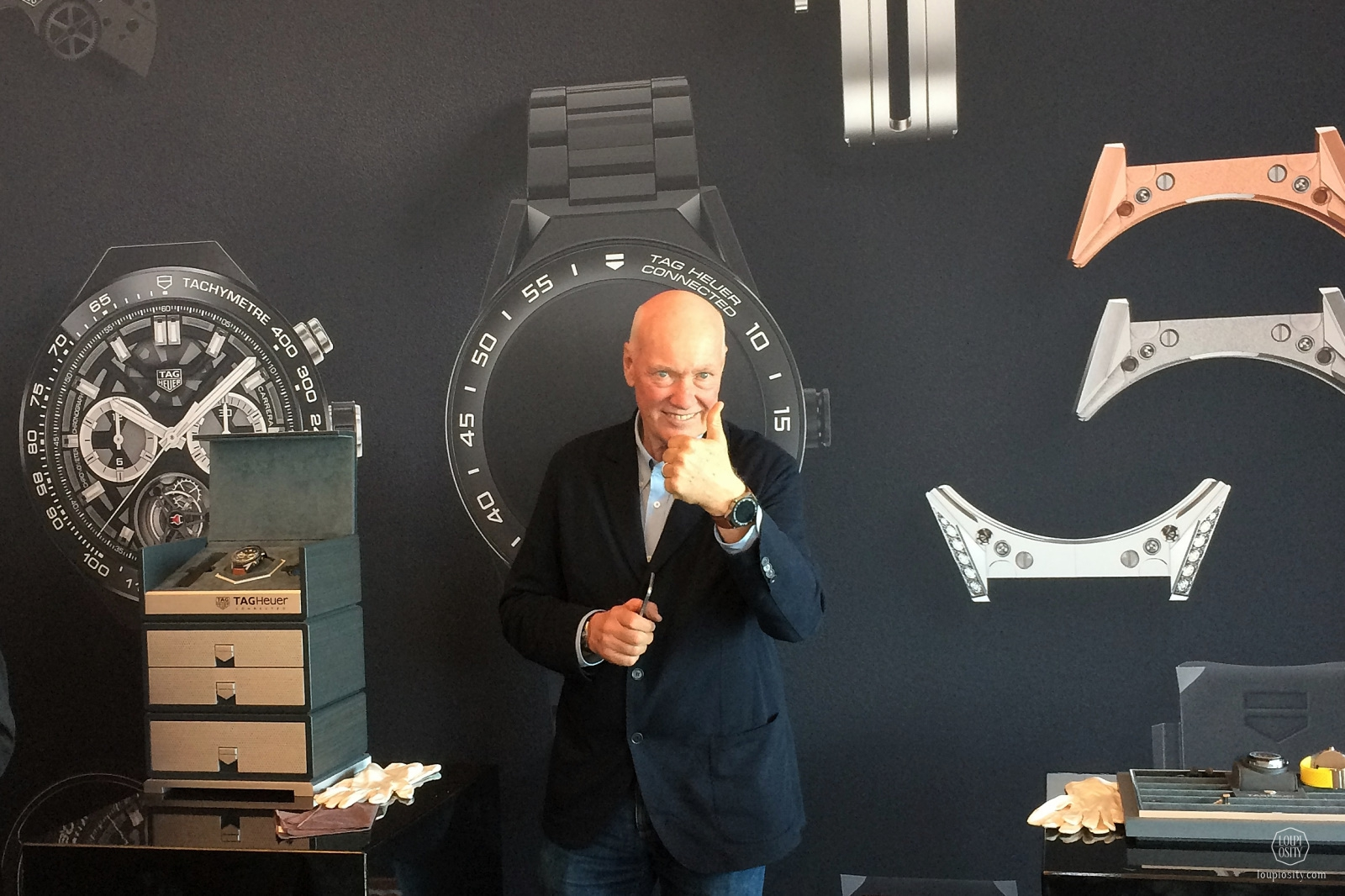 Jean-Claude Biver with the new TAG Heuer Connected Modular 45
