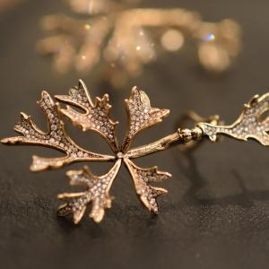 Cyphostemma betiformis leaves earrings