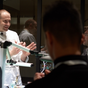 Michele Boulanger explains watch mechanisms to the next generation at the SIHH 2019