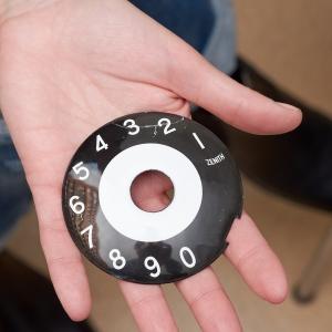 Enamel phone dial