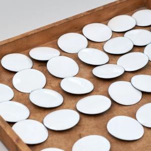 White enamel dials