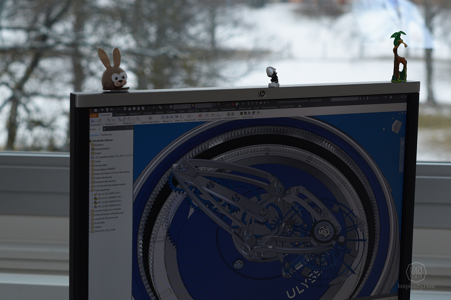 Ulysse Nardin Freak in the CAD software