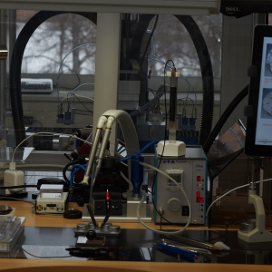 Workstations in the production line at Ulysse Nardin