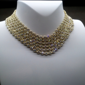 Gold, diamonds necklace