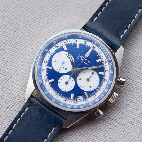 Zenith El Primero One-Off In Platinum and lapis lazuli Ref. 386 Revival designed by Phillips