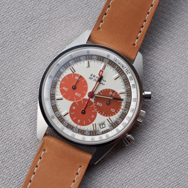 Zenith El Primero Ref. A386 chronograph in steel