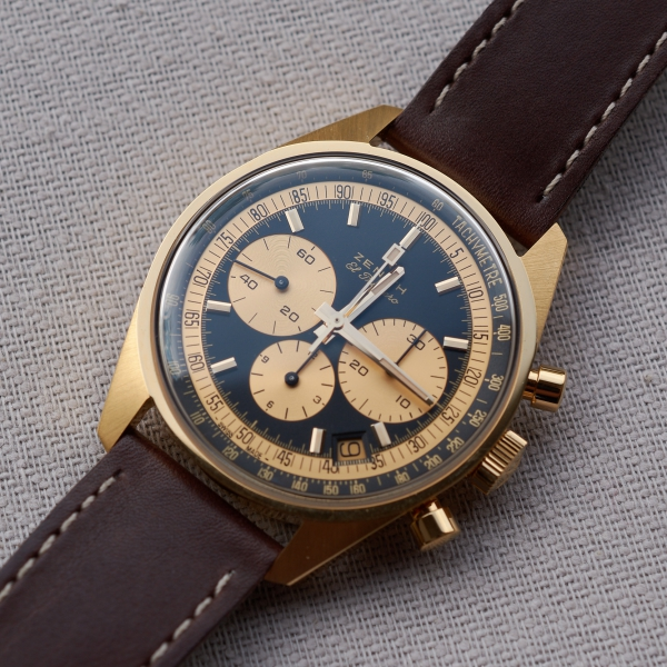 Zenith El Primero Ref. A386 chronograph in yellow gold