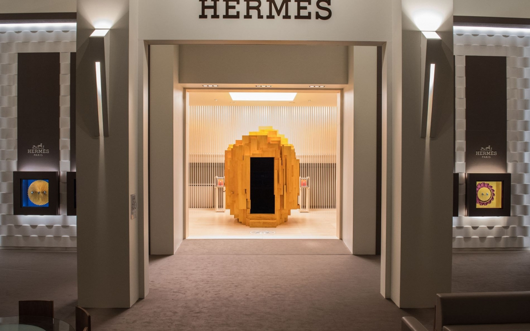 Hermès stand at SIHH 2018 designed by Denis Montel