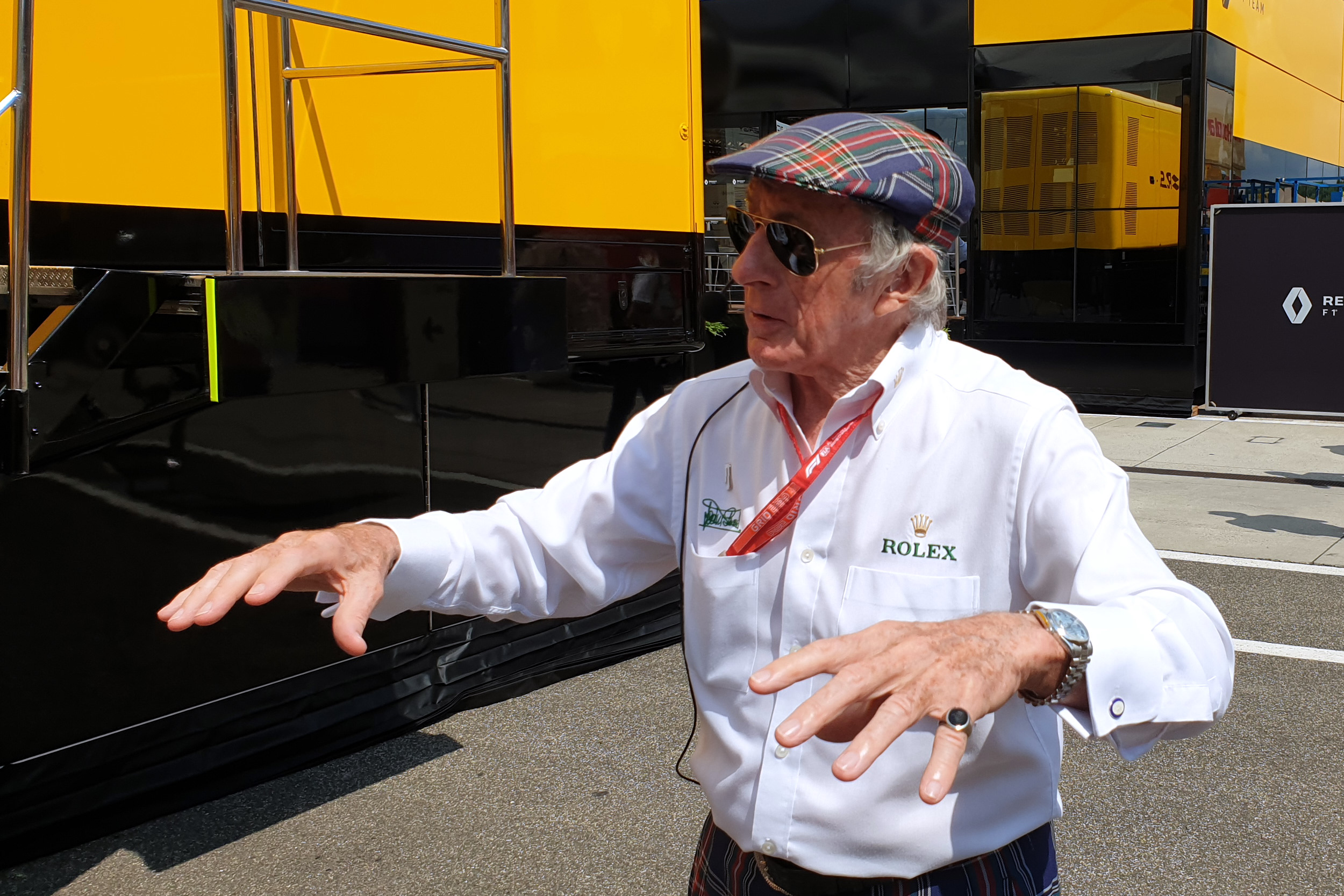 Sir Jackie Stewart at the Formula 1 Rolex Hungarian GP